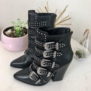 Steve Madden 'Comet' Studded Western Style Booties